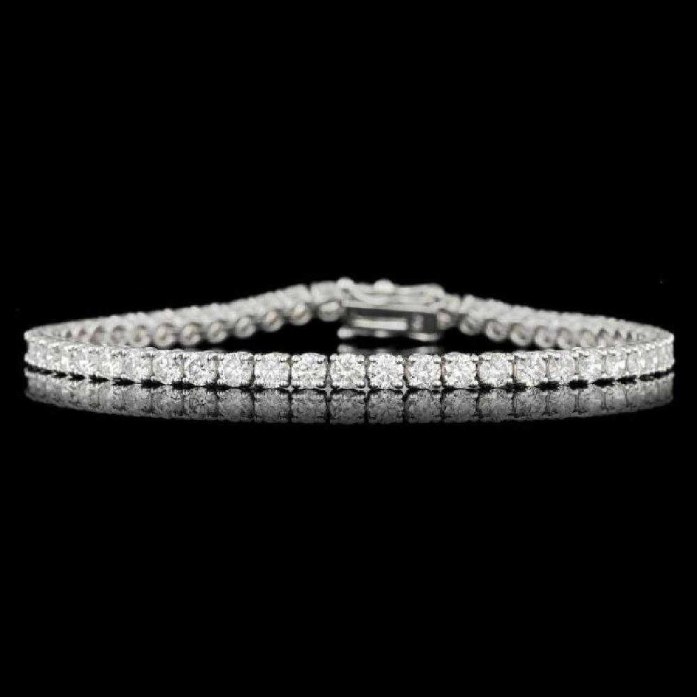 18K White Gold and 5.65ct Diamond Bracelet