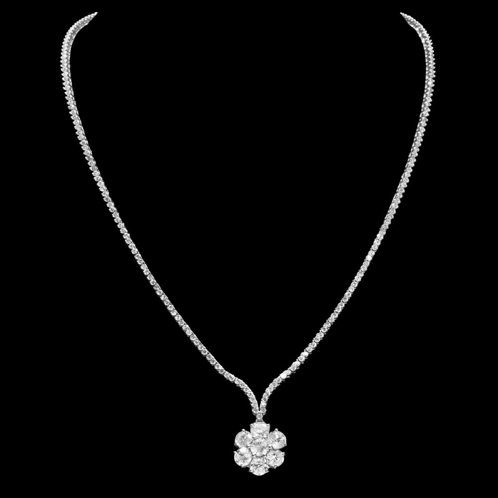 18k White Gold 8.53ct Diamond Necklace