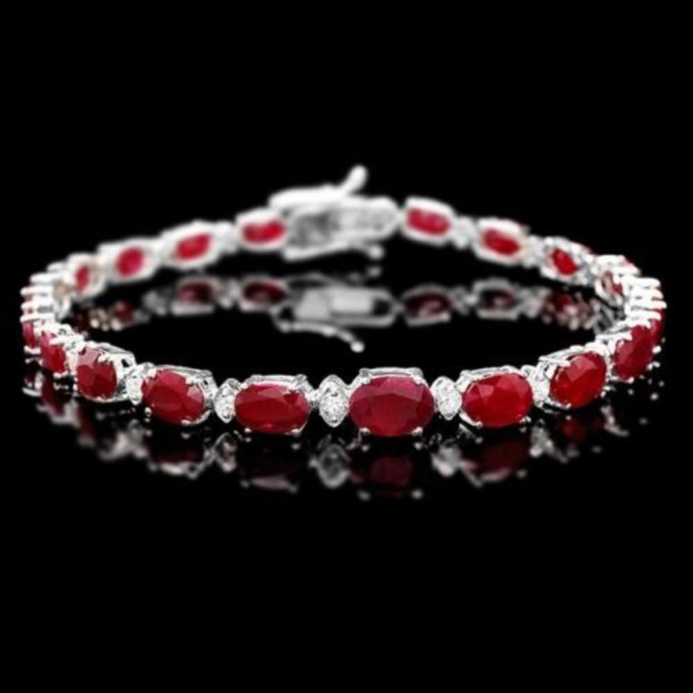 14K Gold 14.25ct Ruby 0.69ct Diamond Bracelet