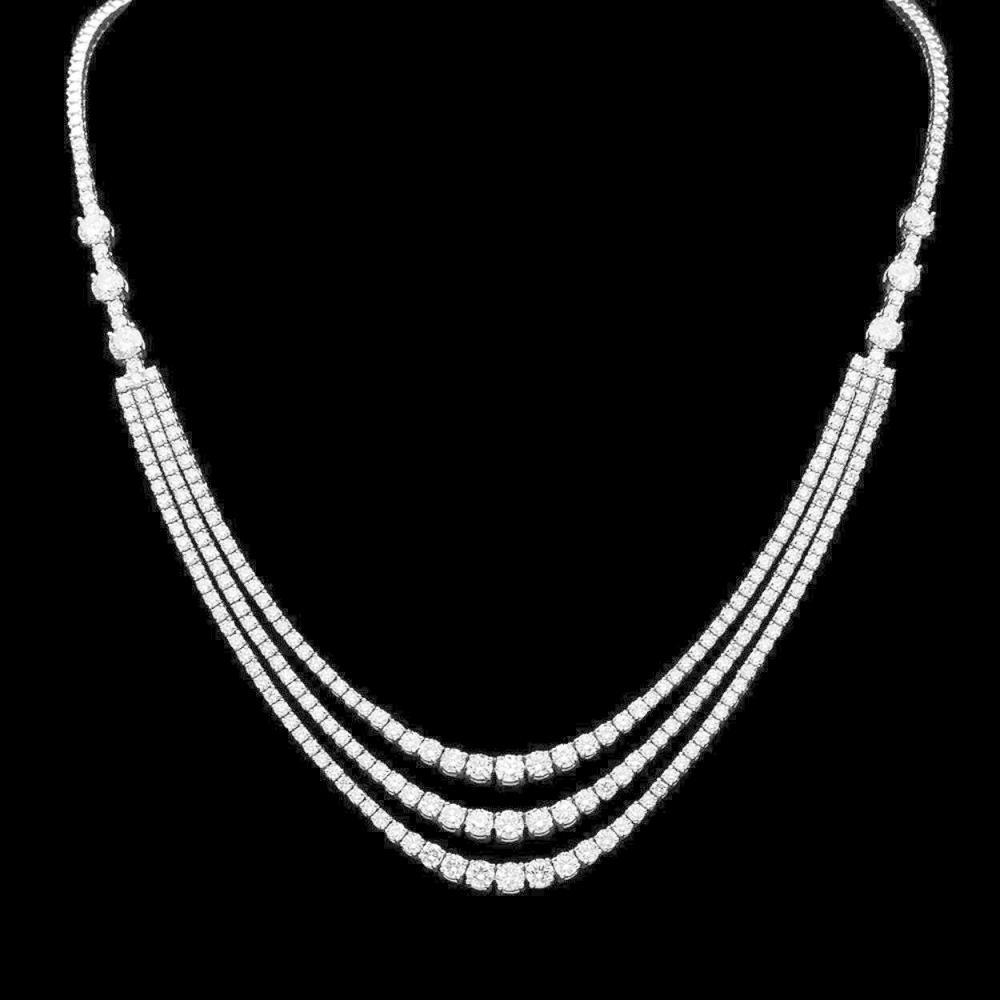 14K Gold 11.98ct Diamond Necklace