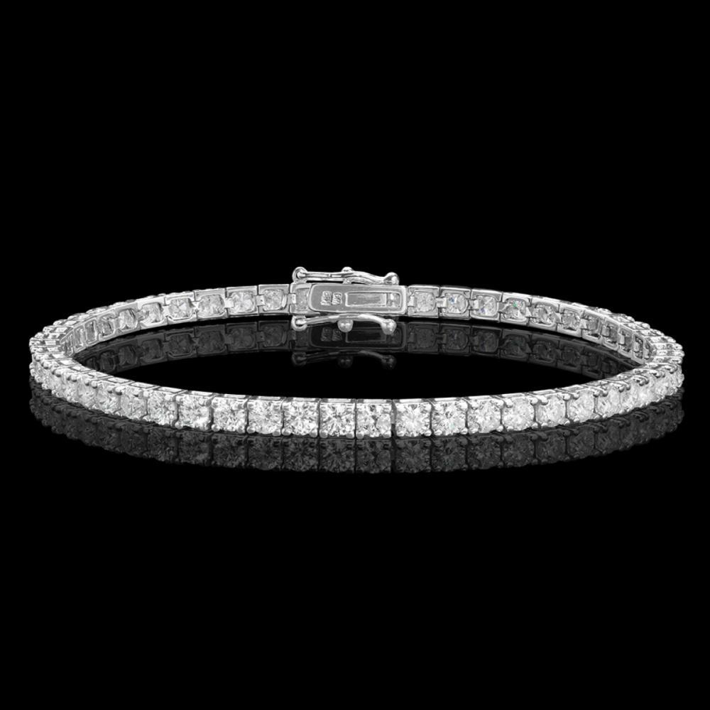 18k White Gold 5.79ct Diamond Bracelet