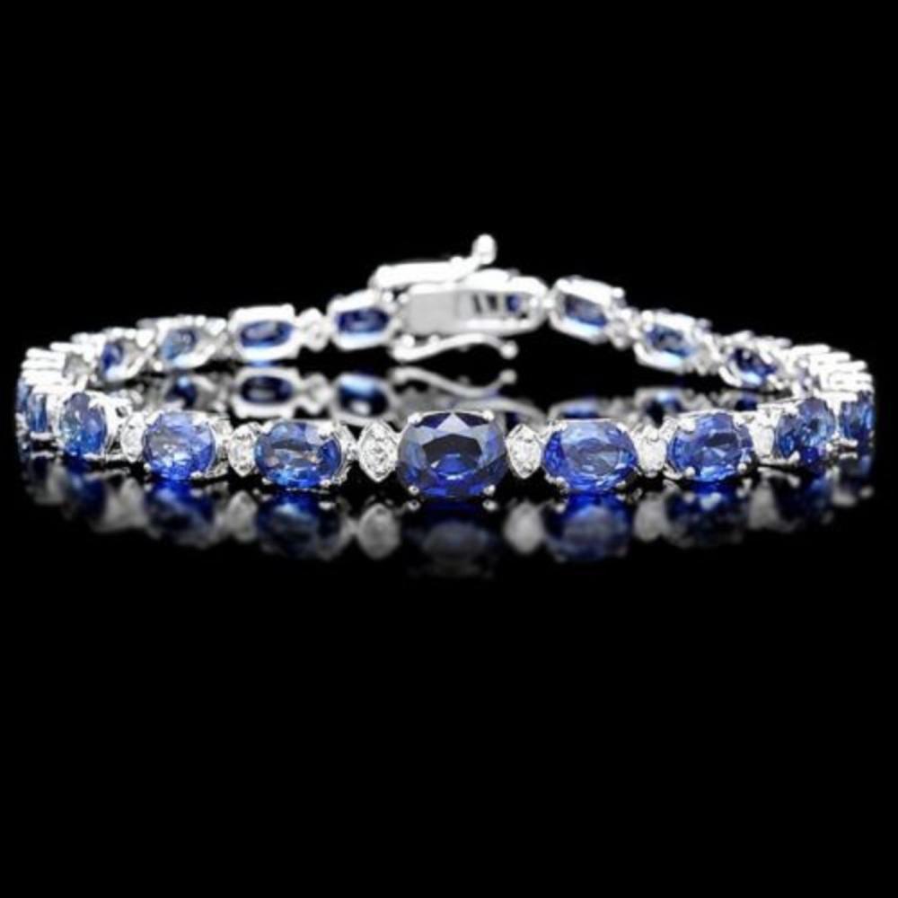14K Gold 14.33ct Sapphire 0.73ct Diamond Bracelet