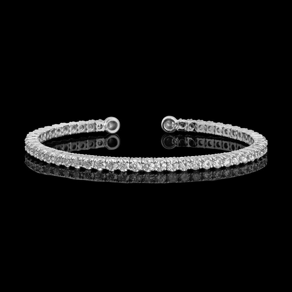 14k White Gold 3.41ct Diamond Bracelet