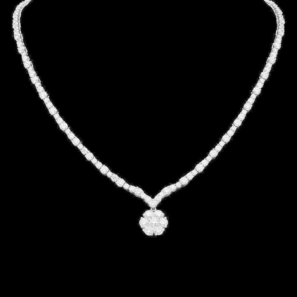 18K Gold 16.00ct Diamond Necklace