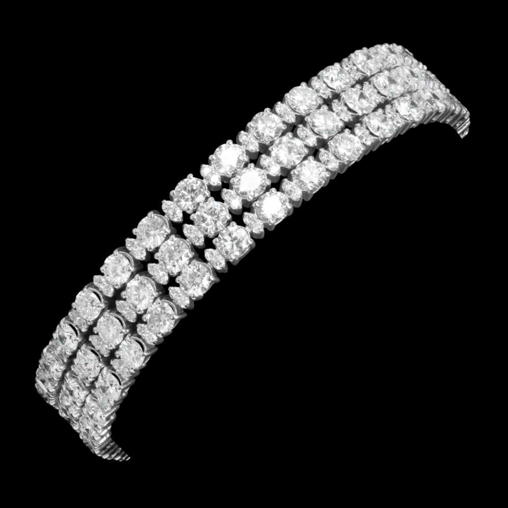 18k White Gold 16.46ct & 1.86ct Diamond Bracelet