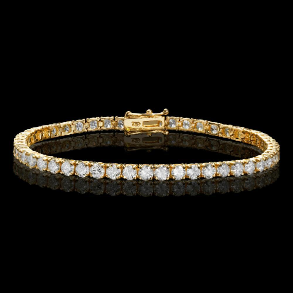 18k Yellow Gold 7.66ct Diamond Bracelet