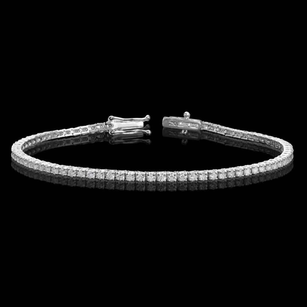 18k White Gold 2.78ct Diamond Bracelet