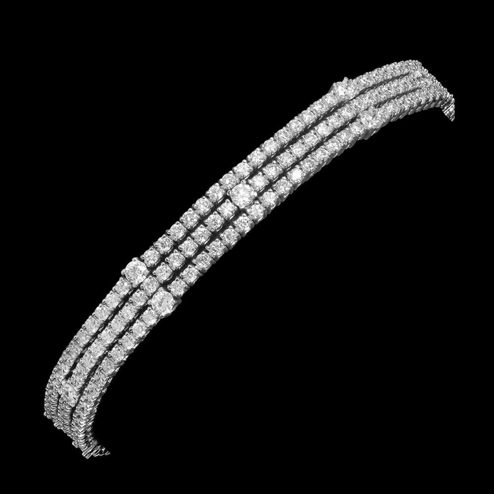 18k White Gold 5.85ct Diamond Bracelet