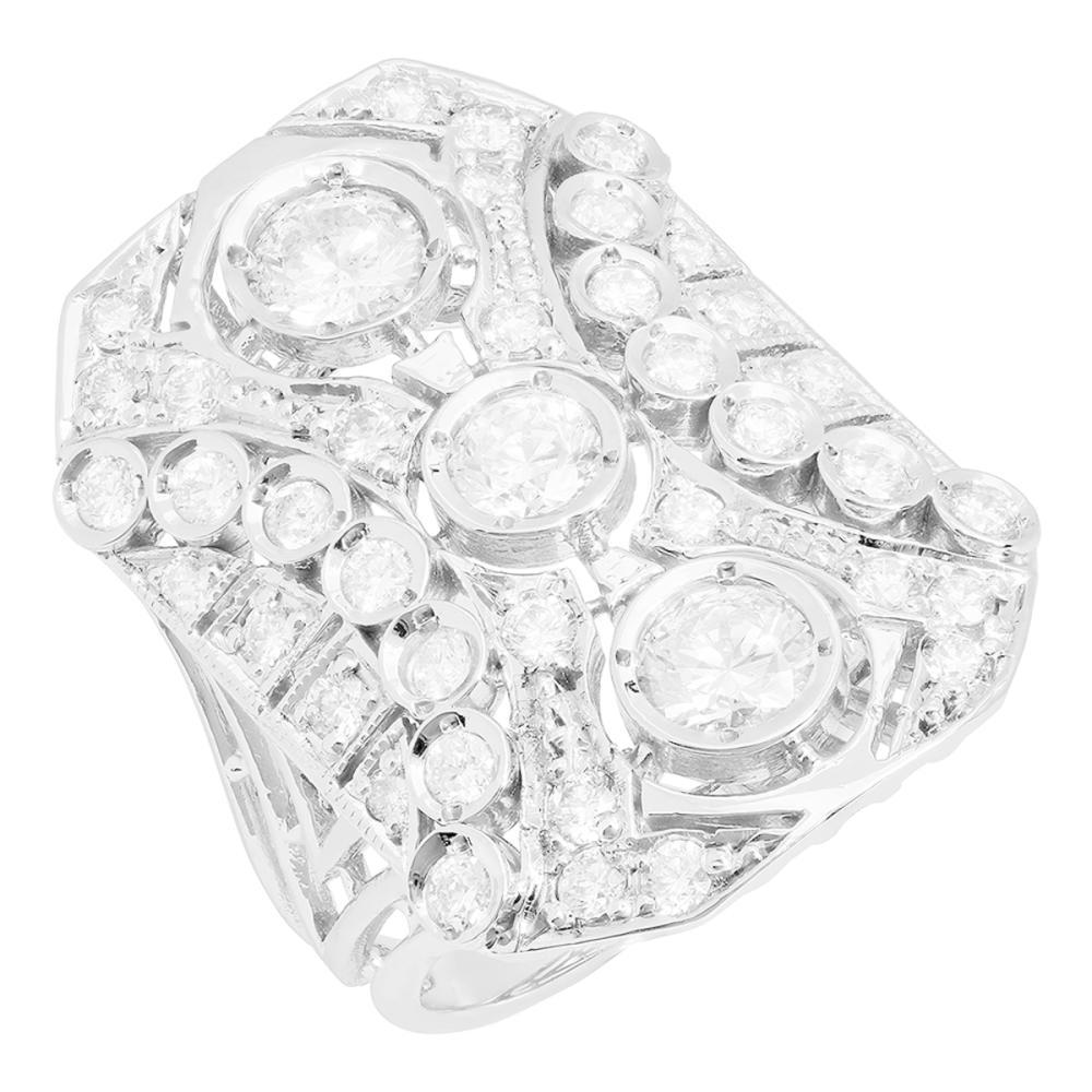 14k White Gold 2.55ct Diamond Ring