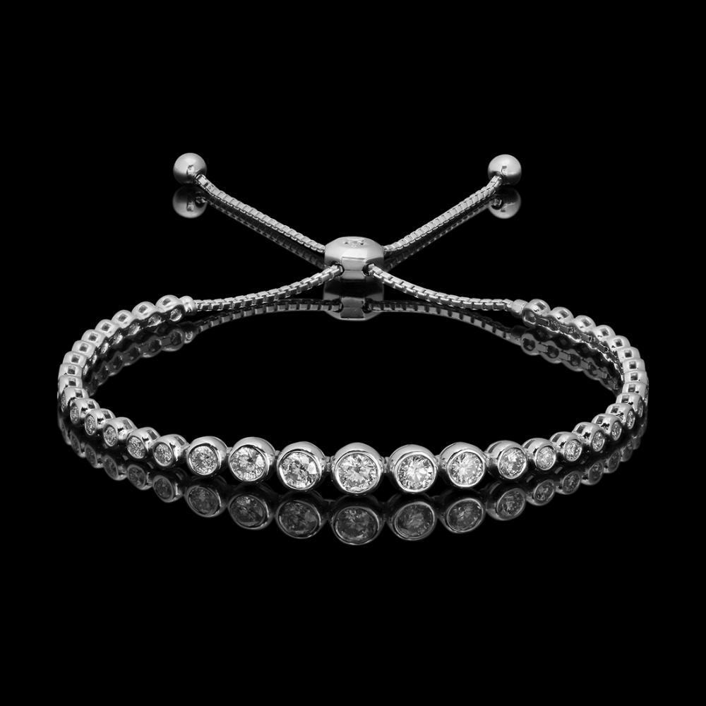 14k White Gold 2.11ct Diamond Bracelet