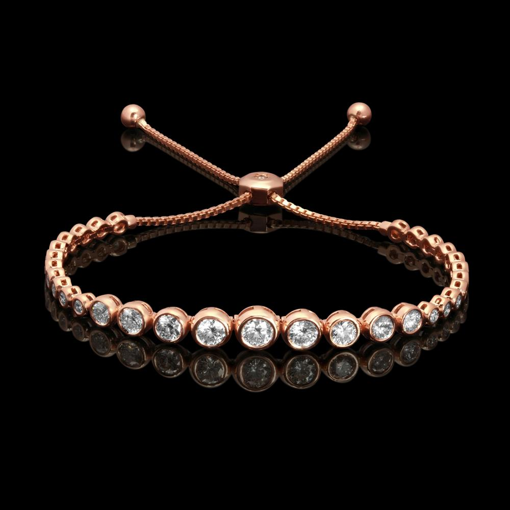 14k Rose Gold 2.67ct Diamond Bracelet