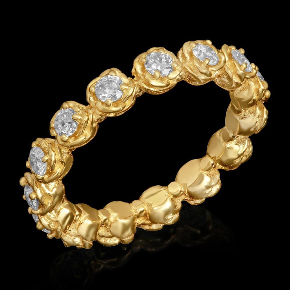14k Yellow Gold 1.11ct Diamond Ring