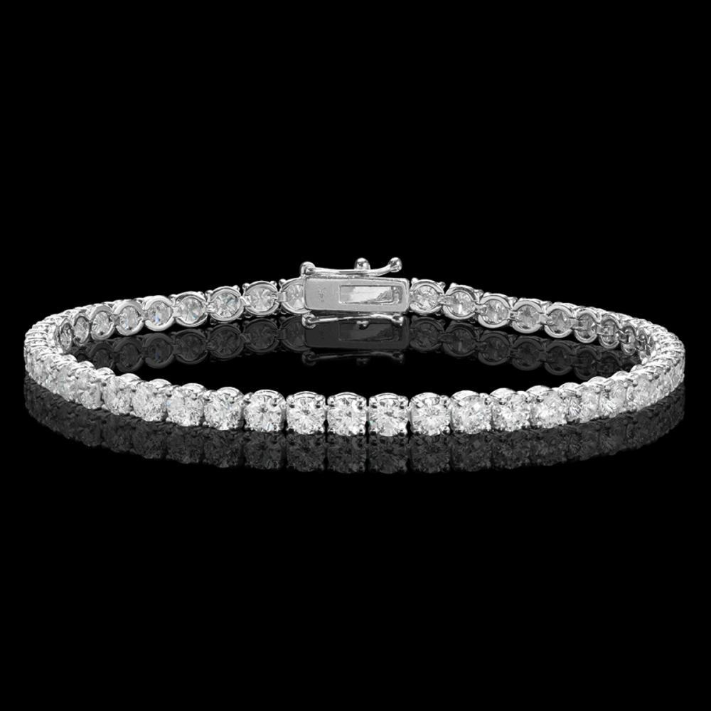 18k White Gold 8.61ct Diamond Bracelet