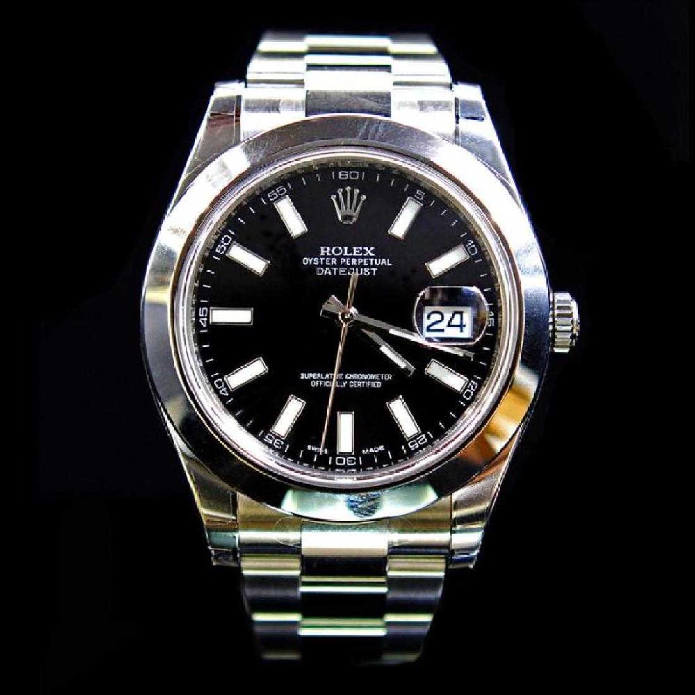 Rolex DateJust ll 41mm Black Index Dial Men's Wristwatch