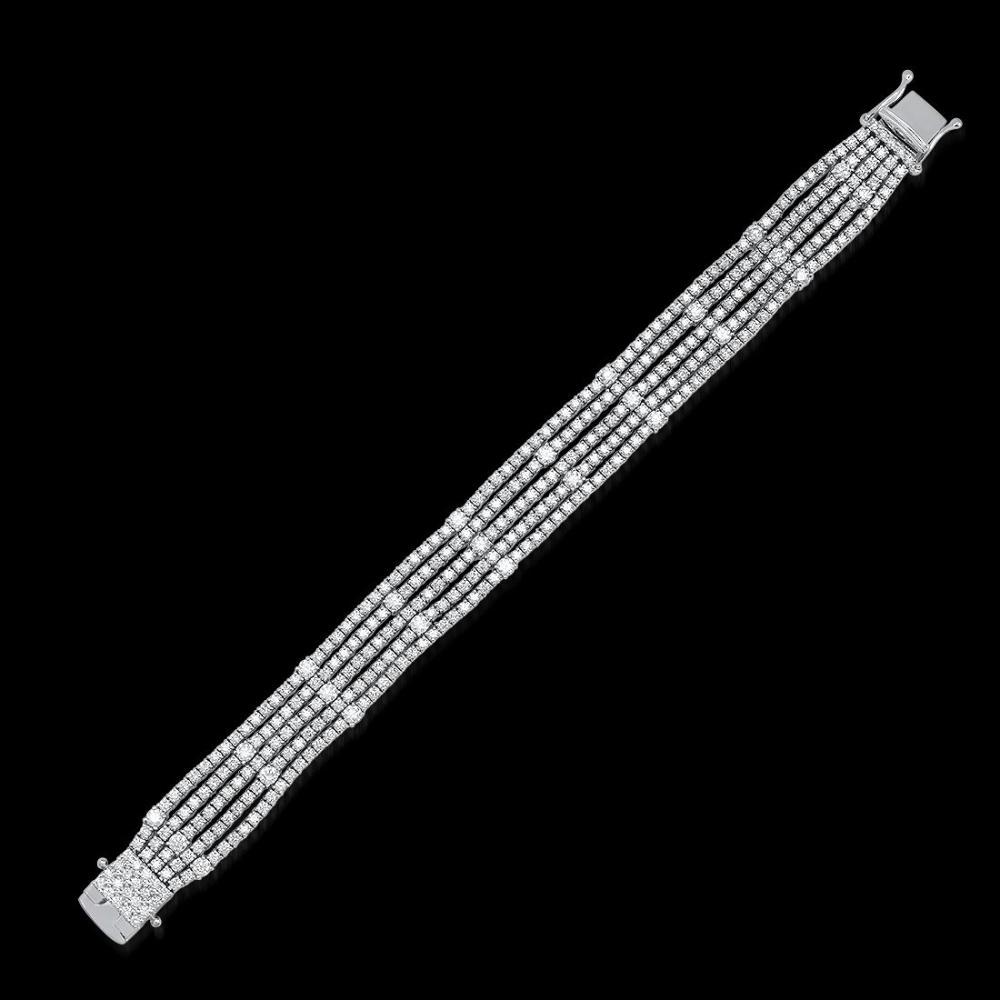 18K White Gold and 11.05ct Diamond Bracelet