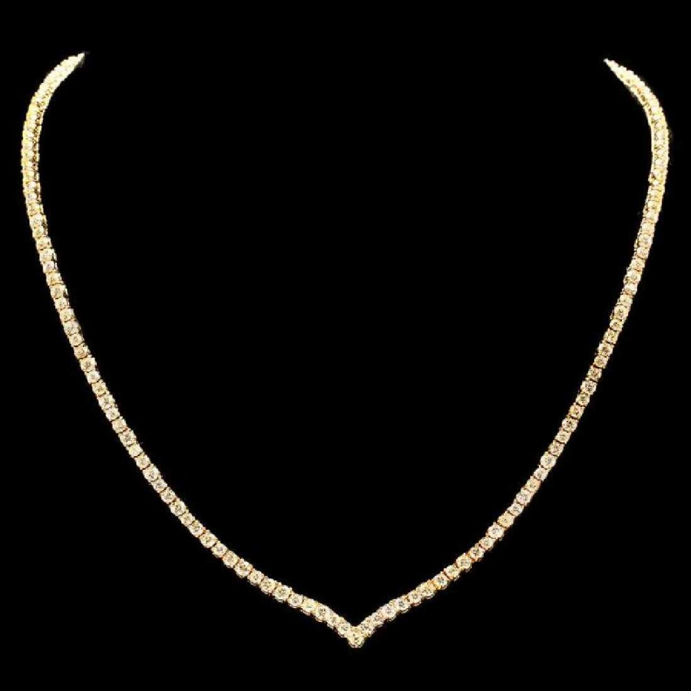 18K Yellow Gold 8.38ct Diamond Necklace