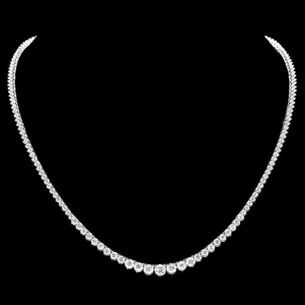 18K White Gold and 9.16ct Diamond Necklace