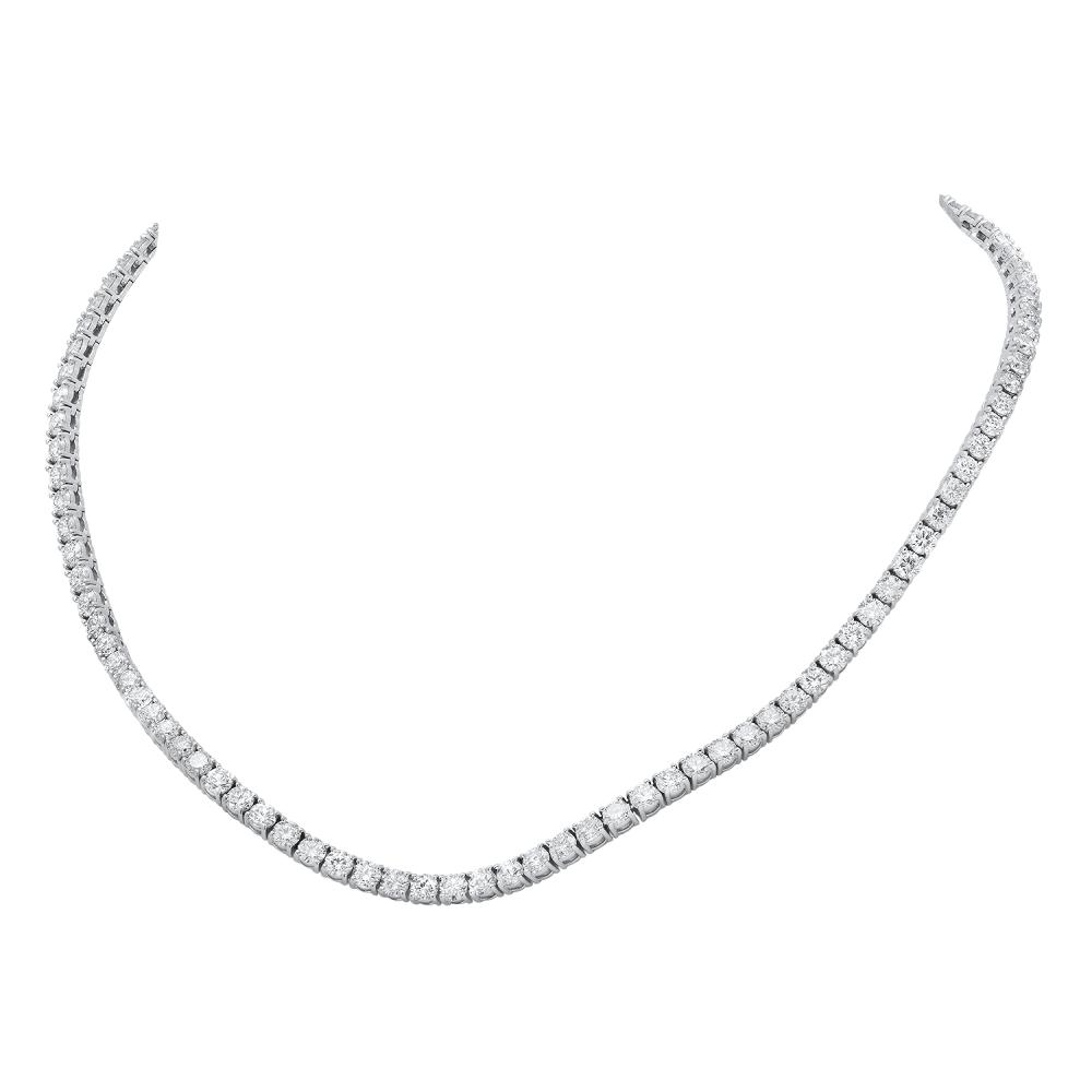 18K White Gold and 21.75ct Diamond Necklace