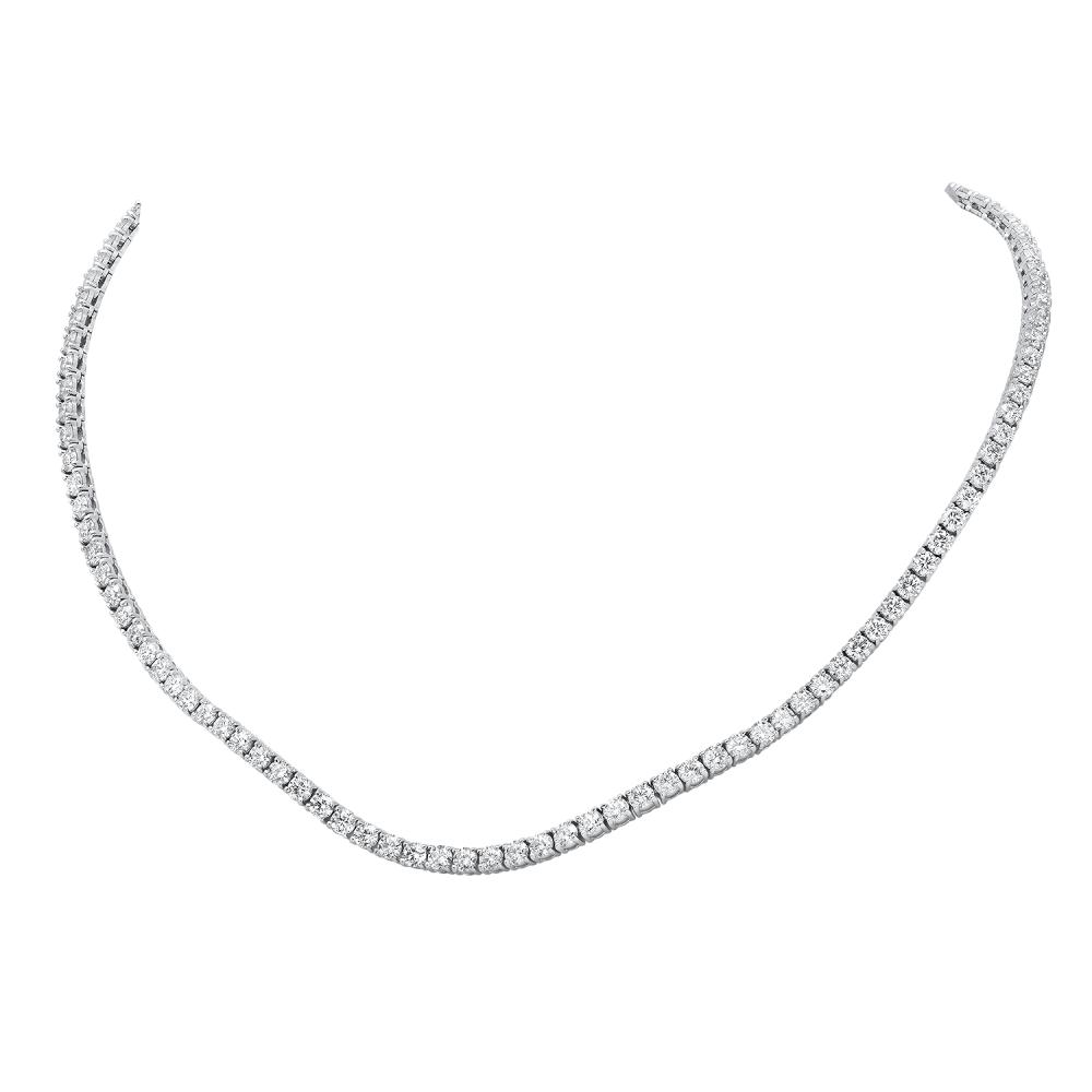 18K White Gold and 16.63ct Diamond Necklace