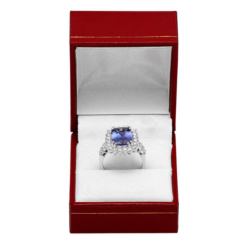 Lot 1: 14k White Gold 4.10ct Tanzanite 1.09ct Diamond Ring