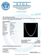 Lot 10: 18K White Gold and 10.18ct Diamond Necklace
