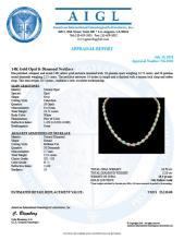 Lot 101: 14K Gold 24.73ct Opal 2.21ct Diamond Necklace