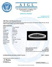 Lot 103: 18K Gold 8.69ct Diamond Bracelet