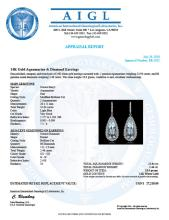 Lot 112: 14K Gold 22.94ct Aquamarine 2.460ct Diamond Earrings