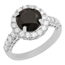 Lot 118: 14k White Gold 2.29ct & 0.73ct Diamond Ring