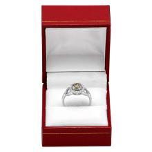 Lot 120: 14k White Gold 1.00ct & 0.70ct Diamond Ring