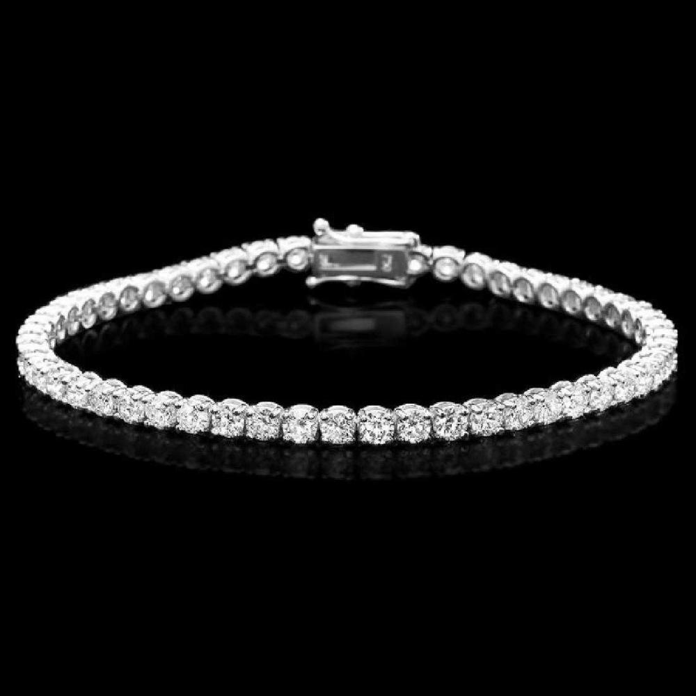 14K White Gold and 6.36ct Diamond Bracelet