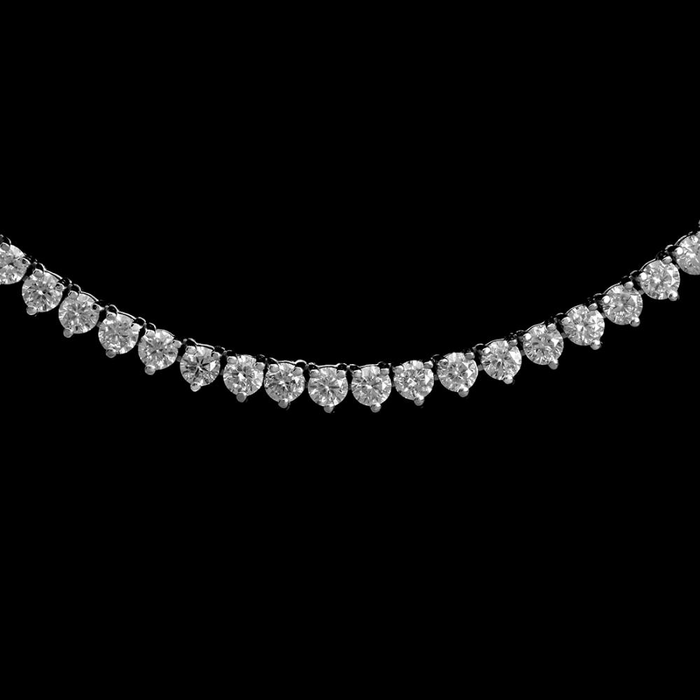Lot 140: 18K Gold 7.12ct Diamond Necklace