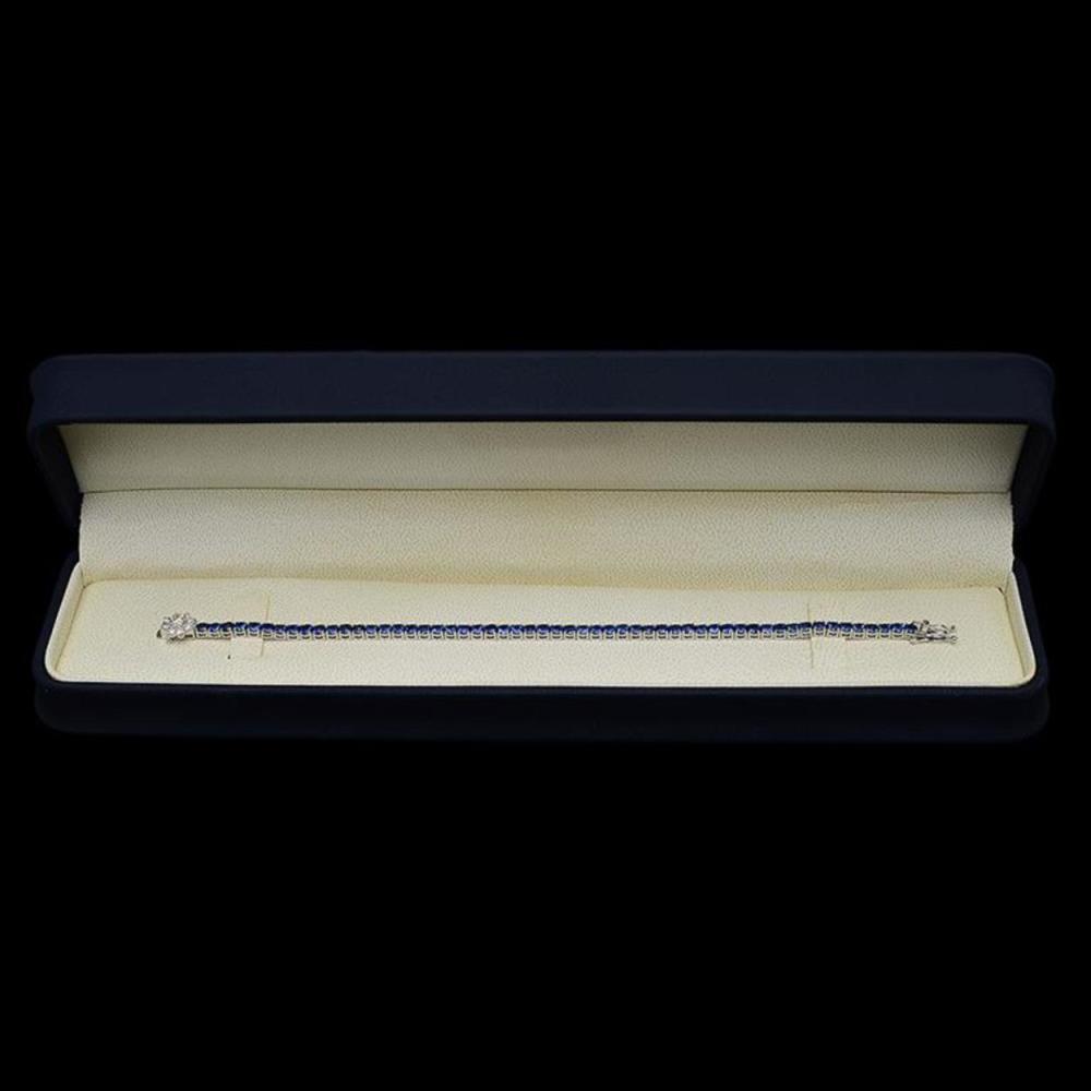 Lot 146: 14K Gold 6.98ct Sapphire 0.54ct Diamond Bracelet