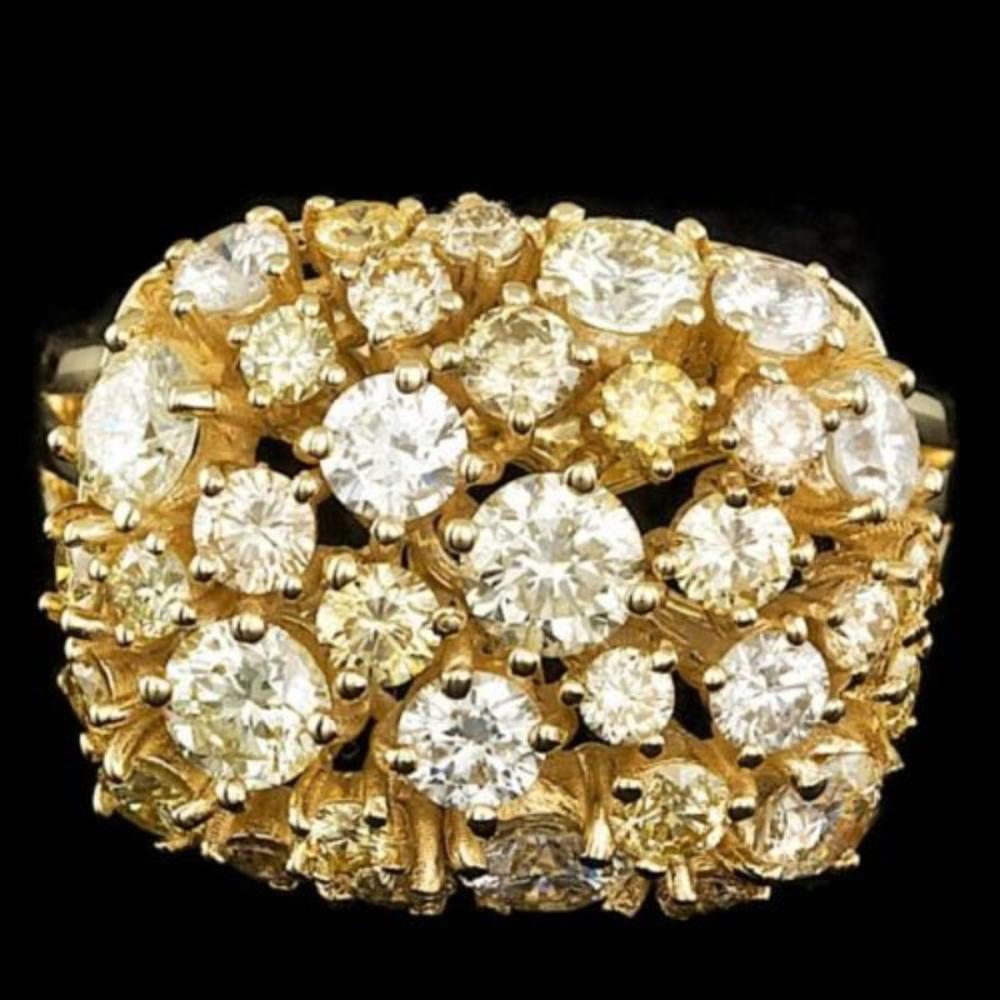 14K Yellow Gold 3.29ct Diamond Ring