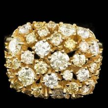 Lot 147: 14K Yellow Gold 3.29ct Diamond Ring