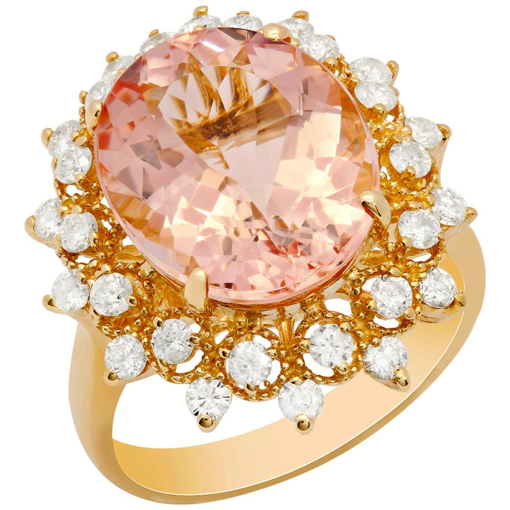 14k Yellow Gold 5.77ct Ruby 1.46ct Diamond Ring