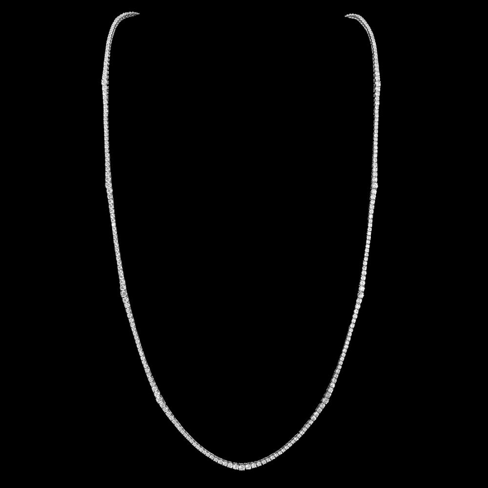 Lot 149: 18K Gold 17.88ct Diamond Necklace