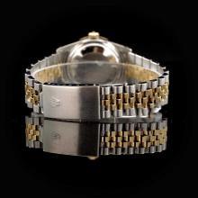 Lot 167: Rolex DateJust Two-Tone 31mm Custom Diamond Bezel Women's Wristwatch