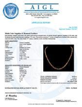 Lot 177: 14K Gold 35.09ct Multi Color Sapphire 1.48ct Diamond Necklace