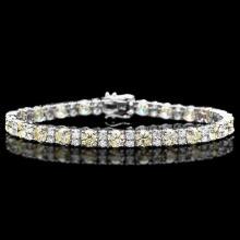 Lot 181: 18K White Gold and 10.81ct Diamond Bracelet
