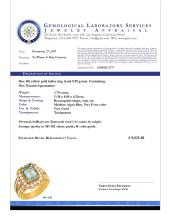 Lot 19: 14k Yellow Gold 3.79ct Aquamarine 1.44ct Diamond Ring