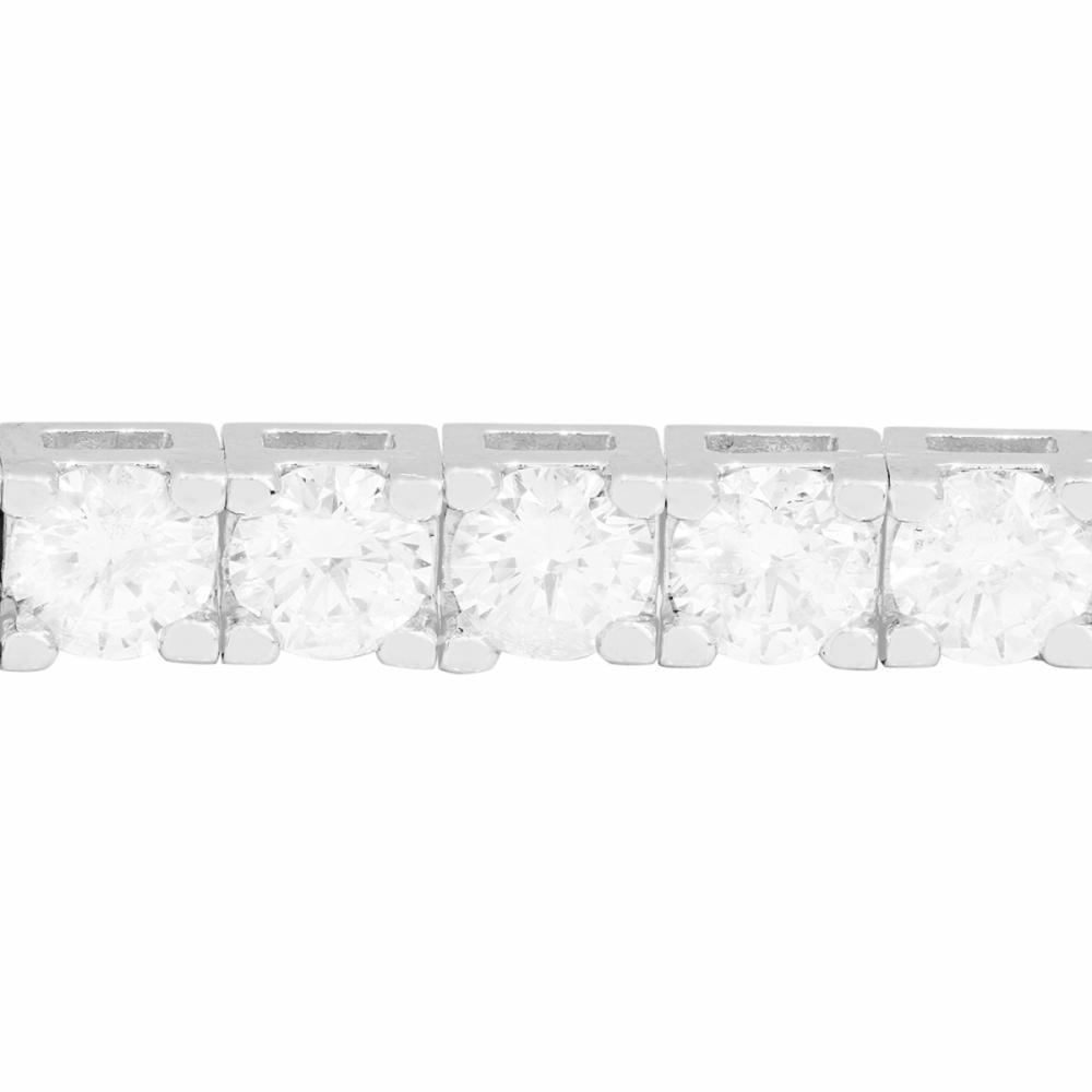 Lot 28: 18k White Gold 5.83ct Diamond Bracelet