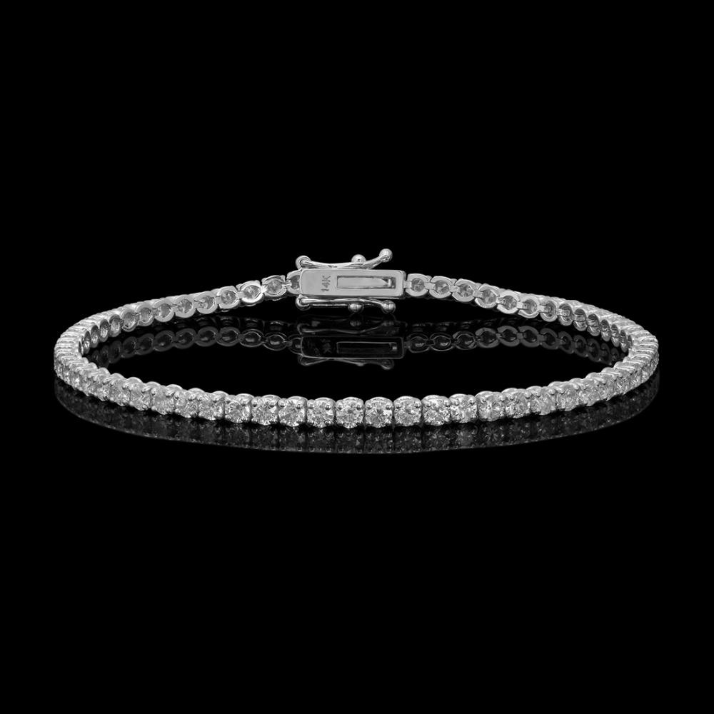 14k White Gold 4.89ct Diamond Bracelet