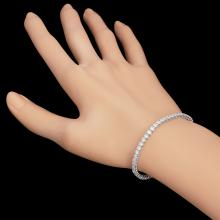 Lot 31: 14k White Gold 4.89ct Diamond Bracelet