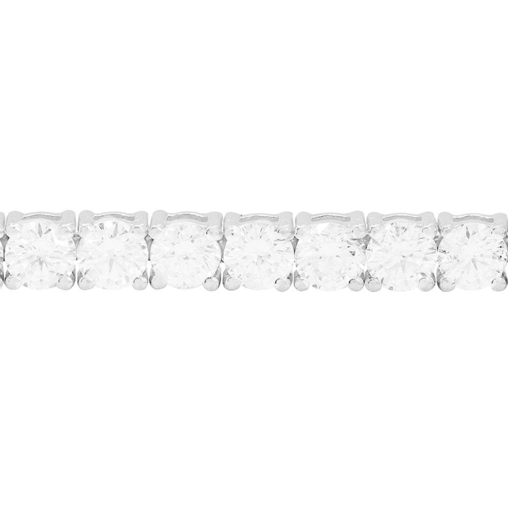 Lot 47: 18k White Gold 7.83ct Diamond Tennis Bracelet