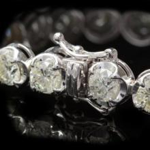 Lot 70: 18K Gold 14.44Ct Diamond Bracelet