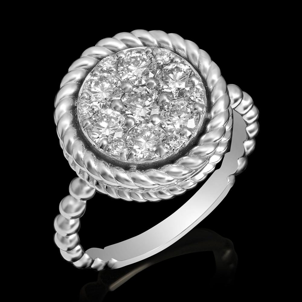 14k White Gold 1.09ct Diamond Ring