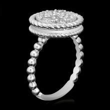 Lot 76: 14k White Gold 1.09ct Diamond Ring