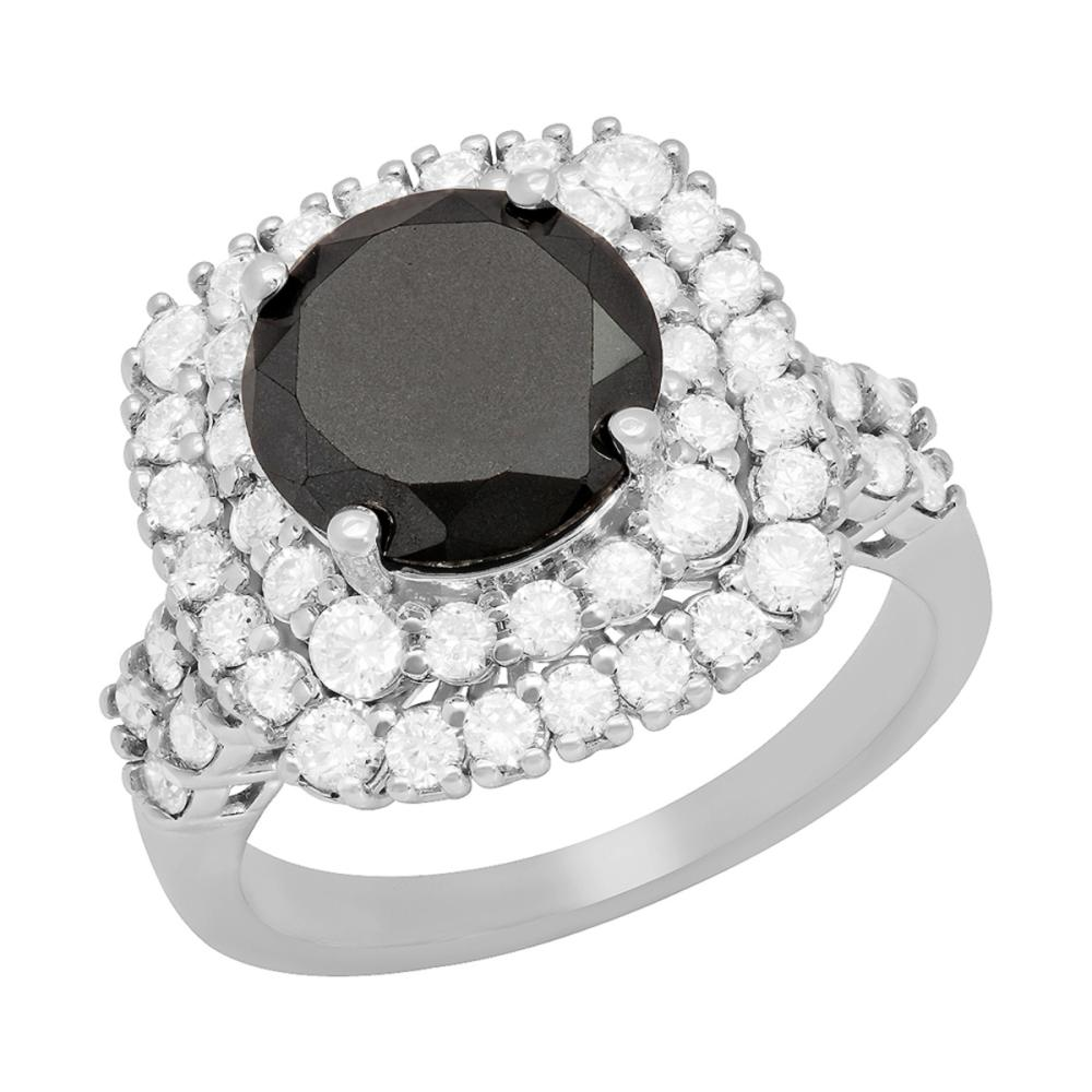 Lot 80: 14k White Gold 2.81ct & 4.46ct Diamond Ring