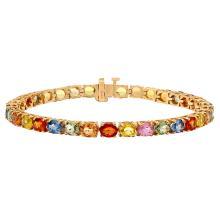 Lot 87: 14k Yellow Gold 15.78ct Sapphire Bracelet